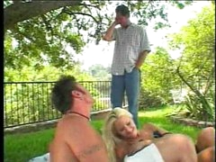 Good allies having a breasty blonde picnic