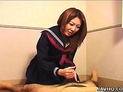 Sexy Nanako Hatsushima kinky tugjob