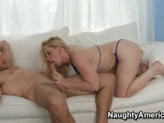 Cameron Keys in her hottest underware blows a much younger man