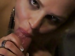 Gorgeous blonde slobbers over this inflexible skin flute