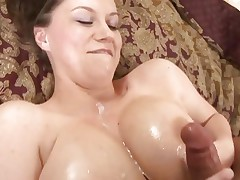Large titted Sara Stone acquires her melons glazed with hot cum
