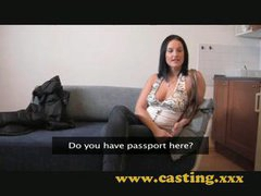 Casting Valuable natural breasts get sprayed