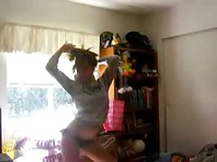Hot teen blonde with priceless body and black bikini stripping and dancing for the camera and our pleasure