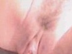 Point-of-view homemade video from a guy with diminutive shlong hardly drubbing trimmed pink beaver of his girl-friend.