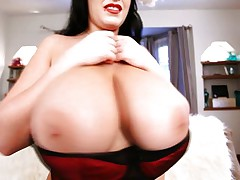 This hot brunette hair is super breasty and that hottie has this outstanding milk shakes that will blow your mind! See her wearing a Santa suit and coming to u with a sexy smile. See her huge whoppers all over the screen as in a short time as that hottie discloses them! Would love 'em to see groped or those nipps sucked?