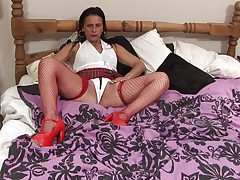 Anna likes to dress like a school angel but she's not one anymore, the 50 y. o. cunt has a lot greater amount experience! Anna still enjoys a hard muff rubbing just like that hottie used to in the old times so here u have it, playing alone with her body and rubbing these milk shakes and pussy. Let's watch if that hottie will remove her pants