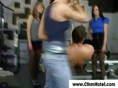 Cfnm bitches dominate femdom fellow