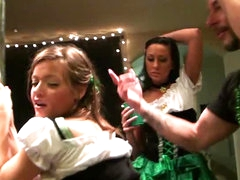 Ashlynn Leigh and Tiffany Brookes in St Patrick's Day Fuckfest