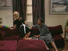 Sexy retro maid Laura Palmer foreplay and fuck