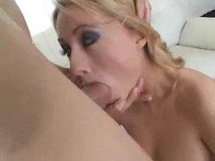 Cute heels on a diminutive tits blonde whore