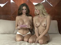 Lesbian interview with big meloned Brett Rossi